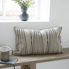 grey and black rectangle cushion by posh totty designs interiors