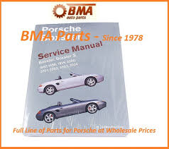 porsche boxster s shop manual book service repair robert bentley