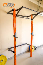 the space saving squat rack down and ready to do some work in your