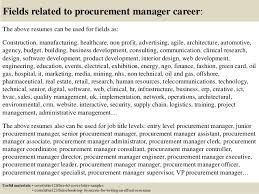 Sample Resume Purchasing Manager by Top 5 Procurement Manager Cover Letter Samples