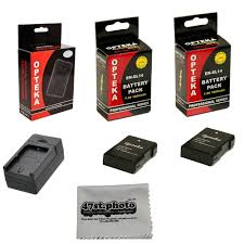 2 pack battery and charger kit for nikon d5200 d5100 d3100