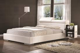 Ultra King Bed Tully White Upholstered Bed