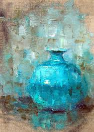 Challenge Vase Sketch Of Blue Vase 7x5in On Linen 50 Sold The Daily