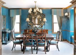 blue painted dining table sky blue dining room голубое небо столовая 天蓝色 饭厅 interiors