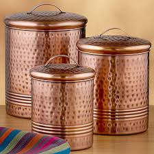 copper canisters kitchen tolle hammered copper kitchen accessories canisters storage
