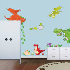 popular 3d dragons wall sticker decal home room decor buy cheap 3d zoo animal dragon wall stickers for kids room decor diy home decor baby room decorative sticker