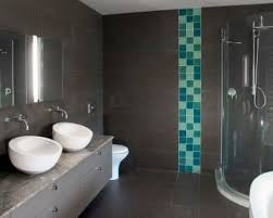 bathroom men bathroom desiign with black tile floor and wall with