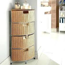 Wicker Basket Bathroom Storage White Shabby Chic Storage Unit Bathroom Cabinet Wicker Baskets
