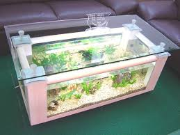 Aquarium Coffee Table Exciting Home Living Room Interior Design Expressing Endearing