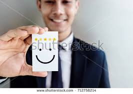 customer experience concept happy businessman holding stock photo