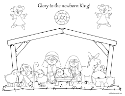 100 ideas printable nativity coloring sheet for kids on