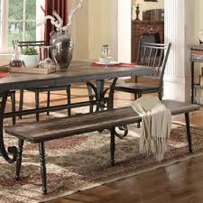 Benches For Dining Room Tables Metal Kitchen U0026 Dining Benches You U0027ll Love Wayfair