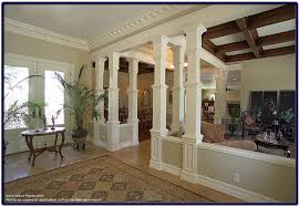 interior home columns wood pillars enhancing the interior of your home pictures