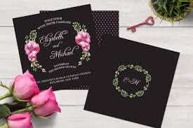 print ready watercolor wedding invitation set template wedding
