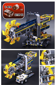 lego technic bucket wheel excavator 16 new lepin 015 3929pcs technic bucket wheel excavator model