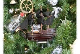 pirate ship model tree ornament