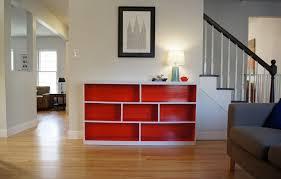 contemporary room dividers furniture modern l shape black wood bookcase room divider as room