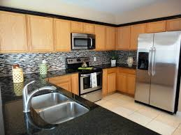 tile floors copper backsplash kitchen ideas curved island glossy