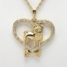 animal gold necklace images 14kt gold and diamond pug necklace by donna pizarro from her jpg