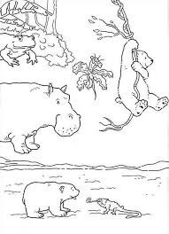 lars polar bear walking tree bridge coloring pages