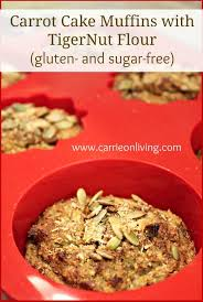 carrot cake muffins with tigernut flour giveaway clean eating
