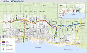 Map Of Ontario First Stretch Of Ontario U0027s 1b Highway 407 East Project Opens