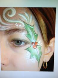 easy christmas face paint holly face painting christmas