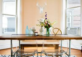 Make Your Own Dining Room Table by Dining Room Tour Feat White Faux Taxidermy