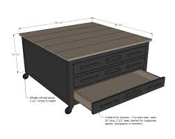 Wood Flat File Cabinet by Ana White 6 Drawer Library Coffee Table Diy Projects