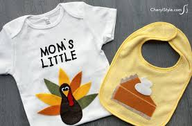 thanksgiving baby bib and onesie family crafts