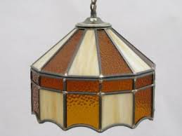 Stained Glass Light Fixtures Vintage Hanging Lamps And Chandeliers