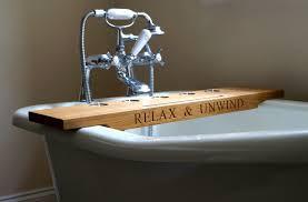 Bathroom Caddy Ideas Simple Diy Bathtub Trays For Reading Made From Teak Wood Ideas