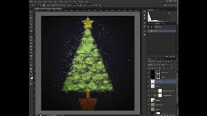 how to create a christmas tree with photoshop brushes youtube