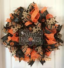 Halloween Wreaths Pinterest by Halloween Wreath Halloween Wreaths Mesh Wreaths Burlap Wreath