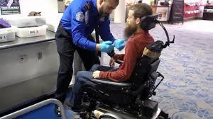 electric wheelchair tsa security screening airport youtube