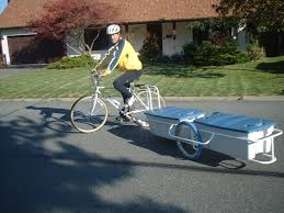 small light cer trailers cargo bicycle trailers by tony s trailers