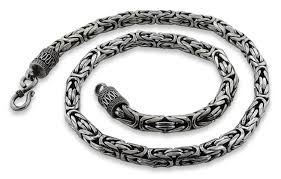 chain bracelet sterling silver images Silver 8 quot round byzantine chain bracelet 7 5mm jpg