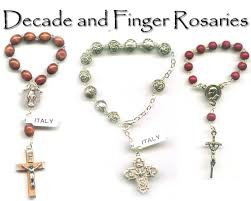 rosary from the vatican catholic decade and finger rosaries from vatican city with free st