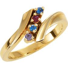 gold mothers ring gold 1 to 7 stones s ring
