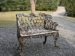 Outdoor Furniture Iron by Victorian Kramer Bros Cast Iron Garden Bench By Ebay Seller
