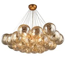 Globes For Chandelier Gathered Globe Chandelier Large Shades Of Light