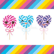 s day heart candy kawaii s day heart shaped candy lollipops with bow