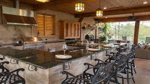 outdoor patio kitchens rustic outdoor kitchen and pool house