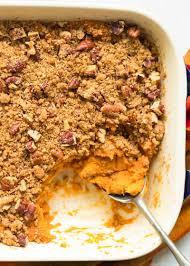 healthy sweet potato thanksgiving recipes sweet potato casserole recipe simplyrecipes com