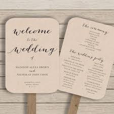 wedding program ideas diy wedding program fans template best 25 fan wedding programs ideas