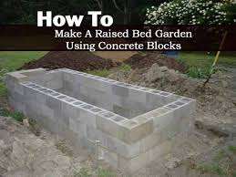 Raised Garden Bed On Concrete Patio How To Make A Raised Bed Garden Using Concrete Blocks Concrete