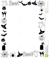 halloween border vector halloween clipart black and white borders clipground