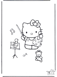 cello coloring page coloring pages hello kitty music
