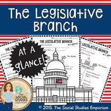 u s government legislative branch at a glance worksheet tpt