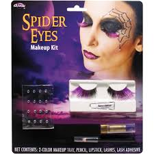 spider eye lashes makeup kit halloween accessory walmart com